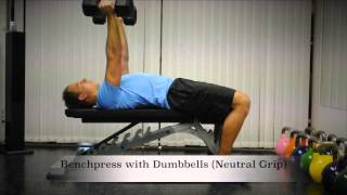 Exercise Index: Benchpress with Dumbbells (Neutral Grip)