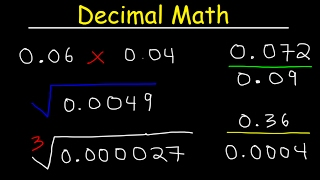 Decimals Multiplication & Division The Easy Way! Square Roots,...