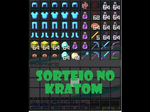 Sorteio no servidor Kratom da Craftlandia.