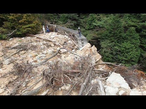 土石流を止めた砂防ダム 神戸