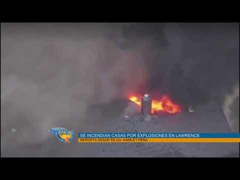 Explosiones incendian casas en Lawrence, MA