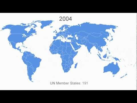 Growth in United Nations membership, 1945-2012