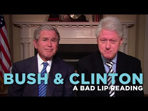 Bad Lip Reading - Bush And Clinton