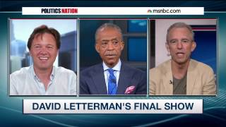 JayThomas with Al Sharpton and Daniel Kellison on David Letterman