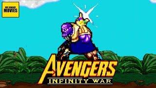 The Thanos Snap Avengers Infinity War - 16 Bit Scenes