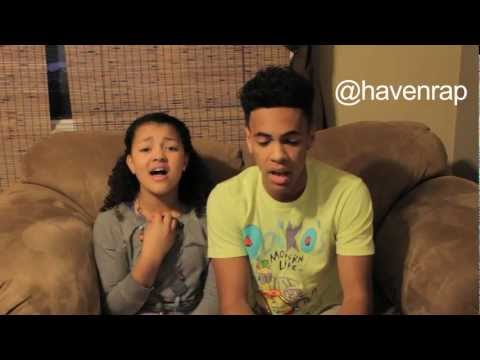 Haven - Singing Diamonds by Rihanna with tay-tay! Follow me on twitter http://www.twitter.com/havenrap follow me on instagram: @havenrap.