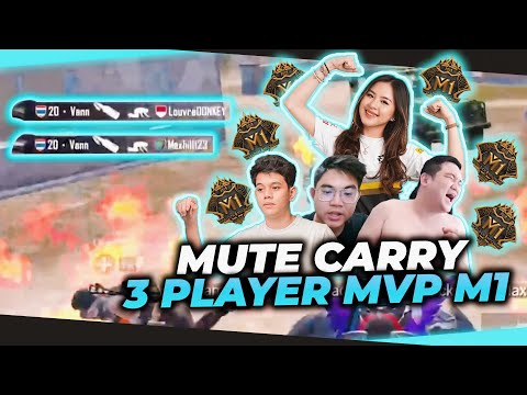 MUTE CARRY 3 PLAYER MVP M1!! - PUBG MOBILE Indonesia