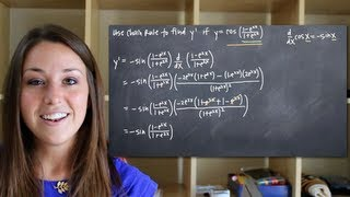 Chain Rule For Derivatives, With Quotient Rule