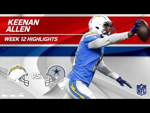 Video: Keenan Allen Sails Past Dallas w/ 11 Grabs, 172 Yds & 1 TD | Chargers vs. Cowboys | Wk 12 Player HLs