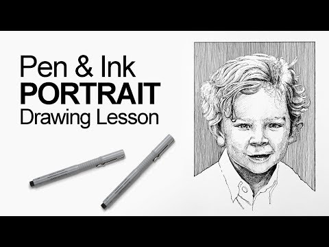 How To Draw A Portrait With Pen And Ink