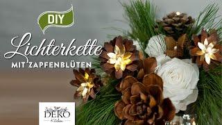 DIY: weihnachtliche Lichterkette mit Kiefernzapfen [How to]   Deko Kitchen