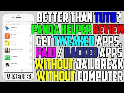 Better Than TUTU Helper? Panda Helper - Get Paid Apps & Hacked Games / ++ App (NO Jailbreak / NO PC)