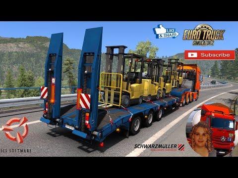 Schwarzmuller low bed semi-trailer in ownership v1.0