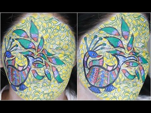Madhubani Face Painting | Arts Of India | Shreya Jain