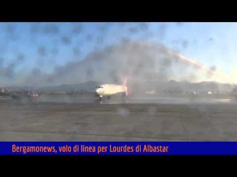 Bergamo con Albastar vola a Lourdes