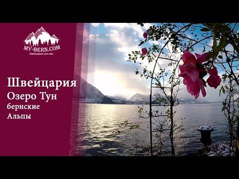 Озеро Тун, Бернские Альпы, Швейцария.