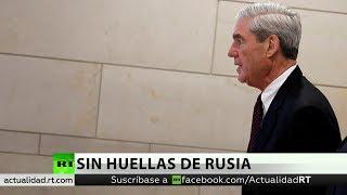 Mueller no ha encontrado prueba de colusión del equipo de Trump con Rusia