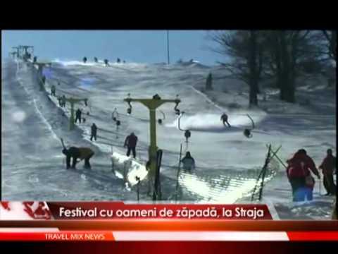 Festival cu oameni de zapada, la Straja