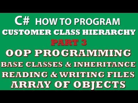 C# Programming Challenge: Customer Classes Part 3 (C# inheritance, C# OOP, C# arrays of objects, C# Properties)