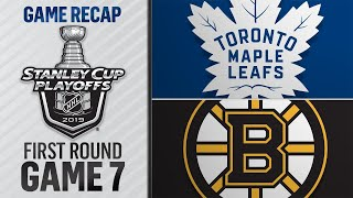 Bruins eliminate Maple Leafs with 5-1 win in Game 7 by NHL