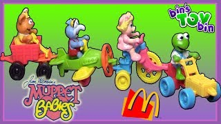 """Jenna from WhatsRyanTryin joins us as we open up a vintage set of Muppet Babies Happy Meal toys from 1990!SUBSCRIBE and never miss a video! http://www.youtube.com/subscription_center?add_user=BinsToyBinAbout Bin's Toy Bin →Adventures in toy collecting! Join husband and  wife team, Bin and Jon (and their son Teagan, too) as they review the latest (and sometimes not-so-latest) toys in their own unique way! Check back daily for new videos!  Also be sure to visit our 2nd YouTube channel for our Family Vlogs!GET YOUR OFFICIAL BIN'S TOY BIN GEAR! →  http://binstoybin.spreadshirt.com/Follow Bin & Jon → Bin's Toy Bin Family Vlogs (Our 2nd YouTube Channel): http://www.youtube.com/BinsToyBinTravelOfficial Site: http://binstoybin.com/IG: @binstoybinFB: https://www.facebook.com/BinsToyBinSnapchat: real_binstoybinTwitter: @BinsToyBinG+: https://plus.google.com/+BinsToyBinMUSIC USED:""""Beach Front Property"""" by Silent Partner from YouTube Audio Library"""