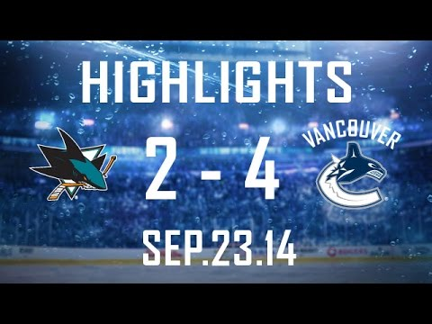 Canucks - The Canucks open the pre-season with a 4-2 victory over the San Jose Sharks at Rogers Arena. Jordan Subban, Hunter Shinkaruk, Bo Horvat, and Linden Vey were ...