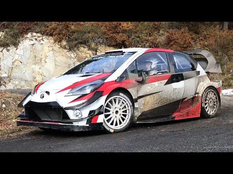 Toyota Yaris WRC - Rallye Monte Carlo 2018 Tests - Jari-Matti Latvala / Miikka Anttila - DAY 2 (HD)