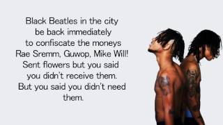Rae Sremmurd - Black Beatles ft. Gucci Mane - Lyrics Video