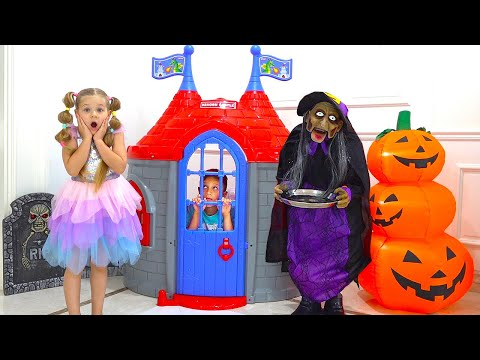 Diana and Roma Pretend Play Halloween Adventure
