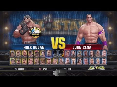 WWE All Stars Character Select Screen Including All DLC Packs Roster