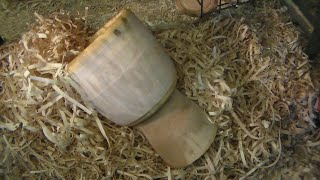 #37 13 Inch maple Djembe Shell