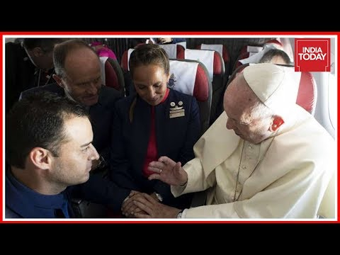 Pope Francis Marries Flight Attendant Couple On-Board Chile Plane   World News