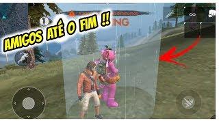FREE FIRE - ELE NÃO ME MATOU!! FIZ UMA AMIZADE COM O INIMIGO!!!