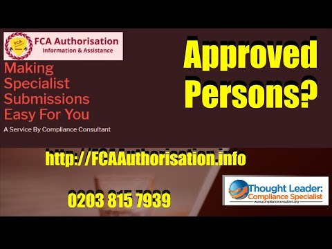 6  What Are FCA Authorised Persons FCA Approved Persons