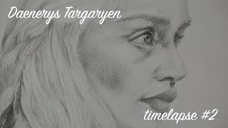 Timelapse pencil drawing of Game of Thrones character Daenerys Targaryen. The time taken to complete this drawing was 4 ...