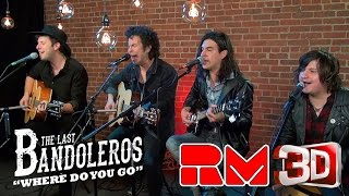 """The Last Bandoleros """"Where Do You Go"""" - Live Acoustic Performance in 3-D on Real Magic TV.Grab your 3D glasses and get intimate with this dimensional group. This is a special feature from an upcoming RMTV release. Stay Tuned for multi-camera full songs, 3D videos, and magic with the band!The Last Bandoleros are on a roll. The group has sold-out New York City's Rockwood Music Hall as headliner and opened for Canadian chanteuse Feist at Webster Hall (NYC). They've performed live with Sting and also feature as backing vocalists on his new single """"I Can't Stop Thinking About You"""" currently climbing the AAA radio and iTunes rock charts. Tour dates with Sting in 2017 were just announced and past tours have included The Mavericks, Marc Broussard and Los Lonely Boys."""