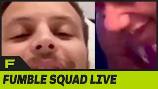Steph Curry Surprises Zack Dobson's IG Live & Guy LOSES IT! | Fumble Live by Obsev Sports