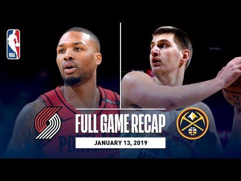 Video: Full Game Recap: Trail Blazers vs Nuggets | Nikola Jokic Records A Season-High 40 Points