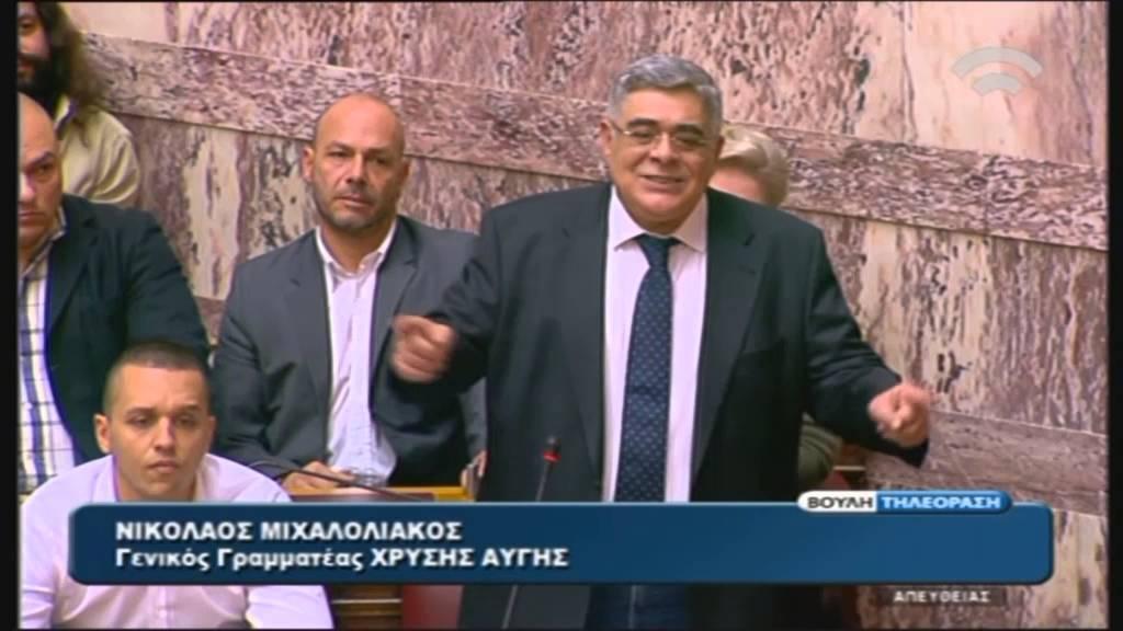 Σύμφωνο Συμβίωσης: Ν.Μιχαλολιάκος (Γεν.Γραμ.Χρυσή Αυγή)(22/12/2015)