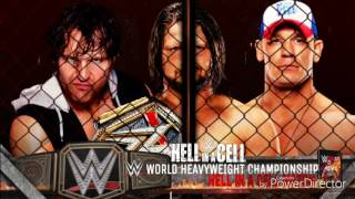 WWE Hell in a Cell Edited match catd/ AJ Styles vs Dean ambrose vs John Cena/ Hell In A Cell match