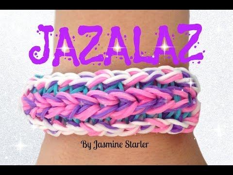 Loom Bands JAZALAZ Bracelet (Original Design) Rainbow Loom Tutorial l JasmineStarler