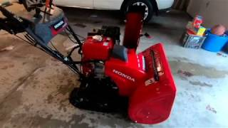10. My New Honda HSS928A Snowblower