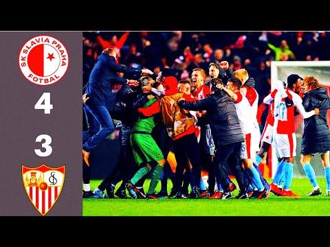Slavia Praha vs Sevilla 4:3pp. Neskutečný zápas ❗❗❗