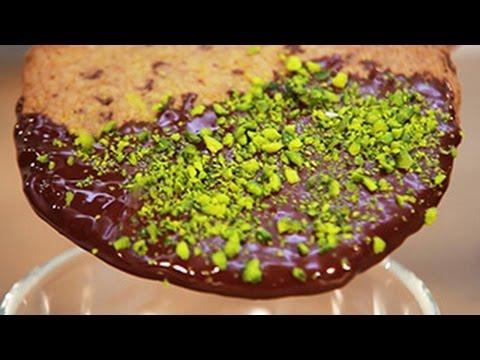 Karamelės skonio sausainiai su šokoladu