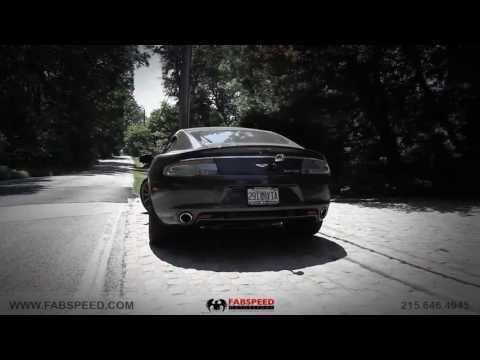 Aston Martin Rapide (2010 ) | Fabspeed Secondary Cat Bypass X-Pipe | Revs and Driv… видео