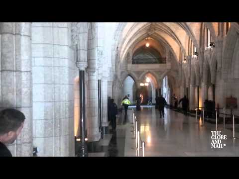Globe and Mail footage captures shooting in Parliament building