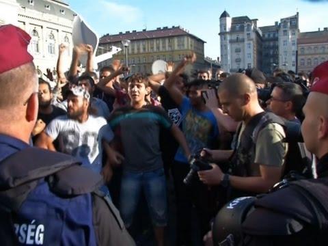 Izbeglice se naguravale sa mađarskom policijom u Budimpešti
