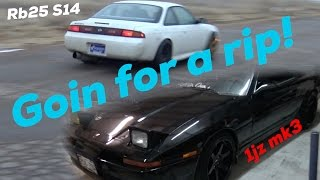Rb25 S14 and 1JZ MK3 Supra - Just goin' for a rip!