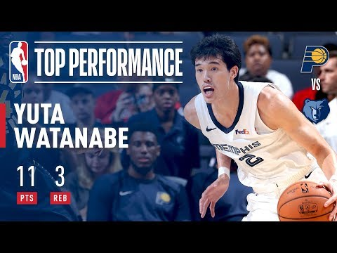 Video: Yuta Watanabe has a Strong Performance for Memphis in Overtime Thriller! | 2018 NBA Preseason