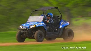 2. Polaris RZR 170 Crash and Rollover | Gabe and Garrett